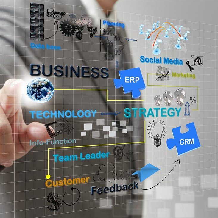 Wort Cloud: ERP, IT Strategy, Team Leader, E-Business, Social Media - IT
